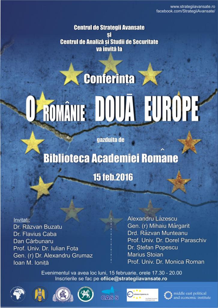 Afis O Romanie doua Europe-org